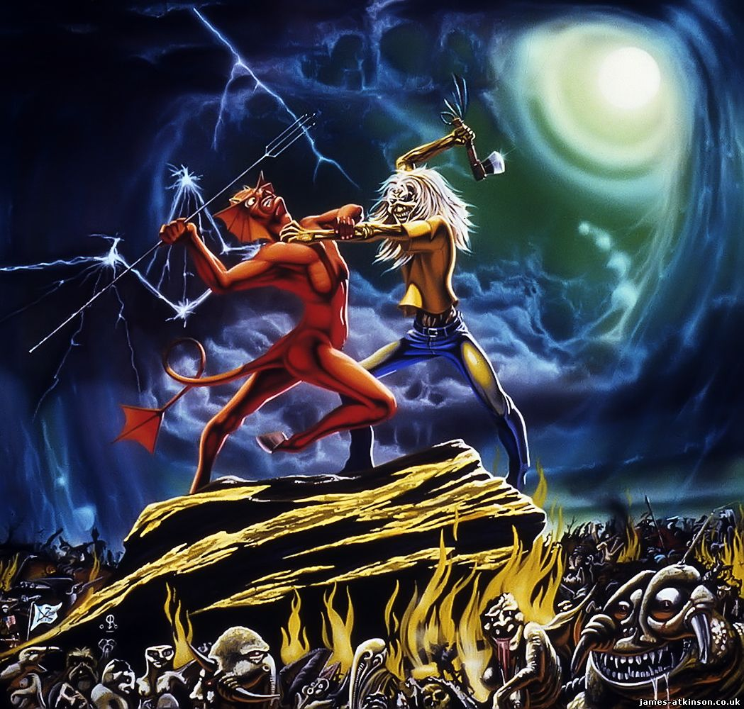 derek riggs artwork for iron maiden brings back wonderful. Black Bedroom Furniture Sets. Home Design Ideas